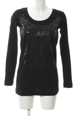 Strenesse Longsleeve black cotton