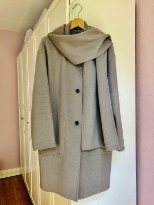 Strenesse Wool Coat grey brown cashmere