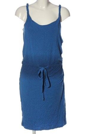 Strenesse Midi Dress blue striped pattern casual look