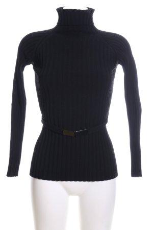 Strenesse Rippshirt schwarz Casual-Look