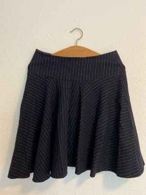 Strenesse Falda de lana azul oscuro-gris claro