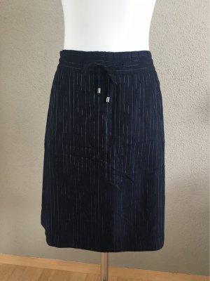 Strenesse Midi Skirt silver-colored-dark blue