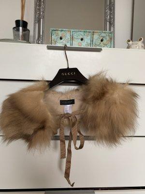 Strenesse Gabriele Strehle Cashmere Scarf multicolored fur