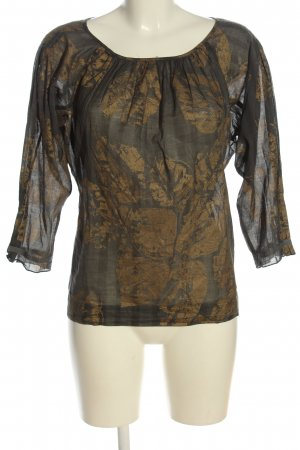 Strenesse Slip-over Blouse light grey-gold-colored allover print casual look