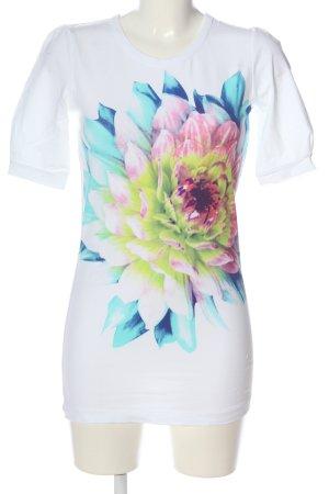 Strenesse Schlupf-Bluse weiß Blumenmuster Casual-Look