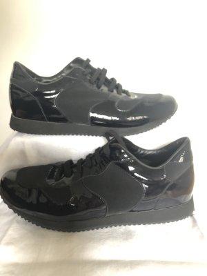 Strenesse schwarze Sneaker mit Lackapplikationen