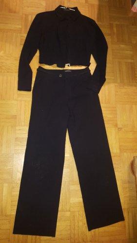 Strenesse Traje de pantalón negro Lana