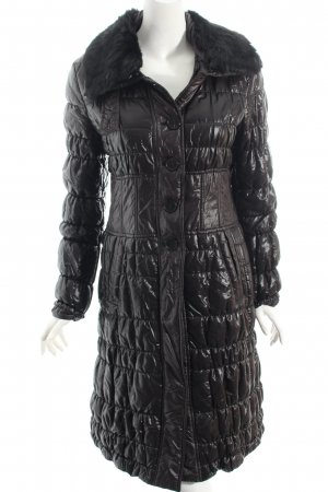 Strenesse Quilted Coat black quilting pattern casual look