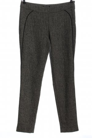 Strenesse Jersey Pants black-natural white allover print business style