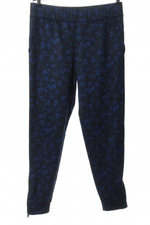 Strenesse Jersey Pants black-blue allover print casual look