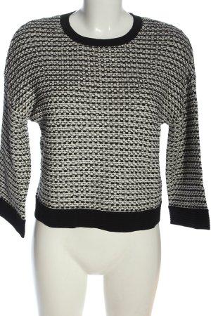Strenesse Bluza dresowa biały-czarny Melanżowy W stylu casual