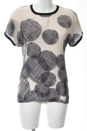 Strenesse T-Shirt wollweiß-schwarz Punktemuster Casual-Look