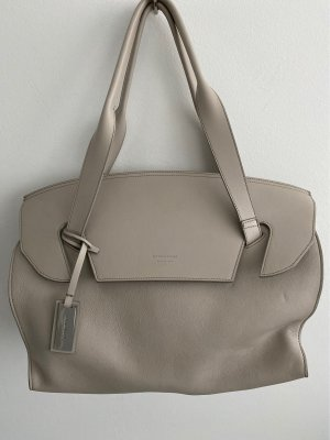Strenesse Carry Bag light grey-silver-colored leather