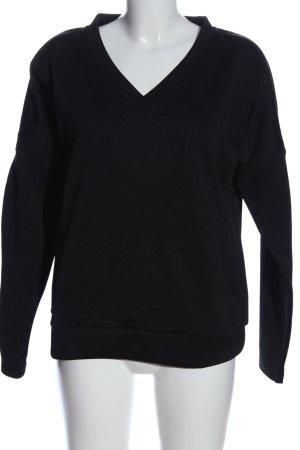 Strenesse V-Ausschnitt-Pullover schwarz Casual-Look