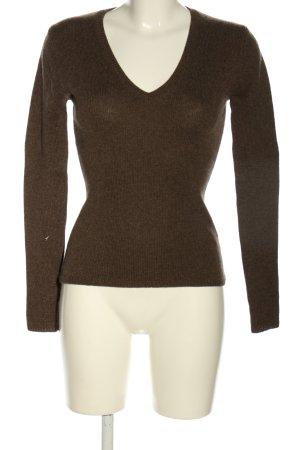 Strenesse V-Ausschnitt-Pullover braun Casual-Look