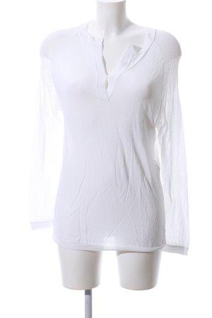 Strenesse V-Ausschnitt-Pullover weiß Casual-Look