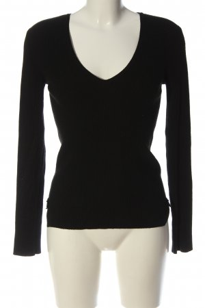 Strenesse V-Neck Sweater black casual look