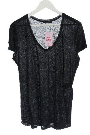 Strenesse T-shirt col en V noir style décontracté