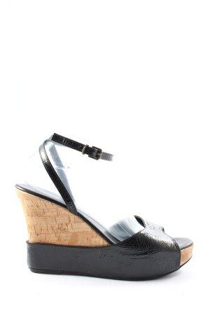 Strenesse Wedges Sandaletten schwarz Casual-Look