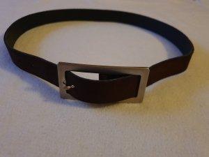 Strenesse Cinturón de cuero marrón oscuro
