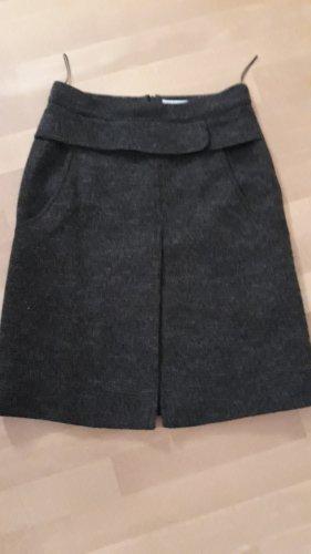 Blue Strenesse Jupe en laine gris anthracite-gris foncé laine