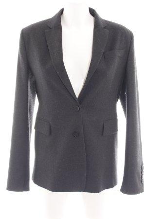 Strenesse Blazer in lana grigio chiaro puntinato stile professionale