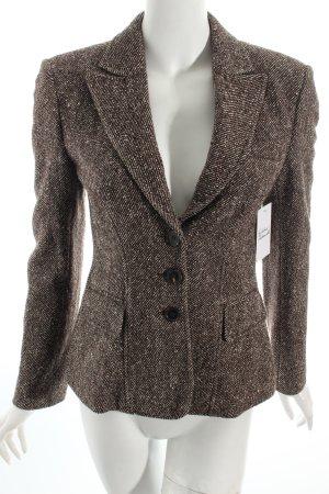 Strenesse Woll-Blazer dunkelbraun-creme Business-Look