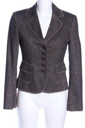 Strenesse Woll-Blazer braun Webmuster Business-Look
