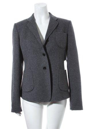 Strenesse Wollen blazer grijs-wolwit gestippeld zakelijke stijl