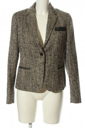Strenesse Woll-Blazer schwarz-creme Allover-Druck Business-Look