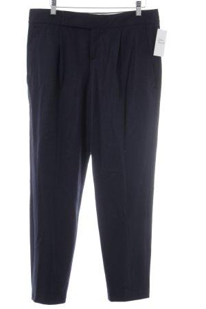 Strenesse Pantalone di lana blu scuro stile professionale