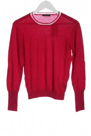 Strenesse Wollpullover rot Casual-Look