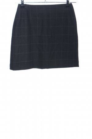 Strenesse Wool Skirt black check pattern casual look
