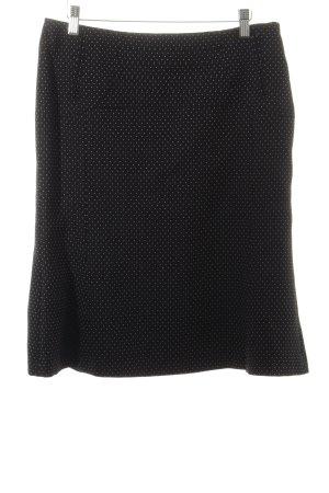 Strenesse Wollen rok zwart-wit gestippeld patroon zakelijke stijl