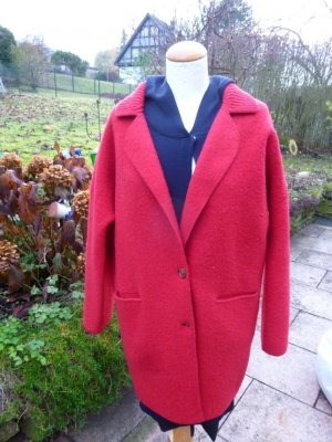 Strenesse Wollwalk Mantel Rot Gr. 34-38