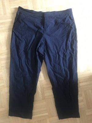Mango Pantalón tobillero azul oscuro