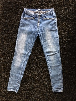 & DENIM Pantalon strech bleu