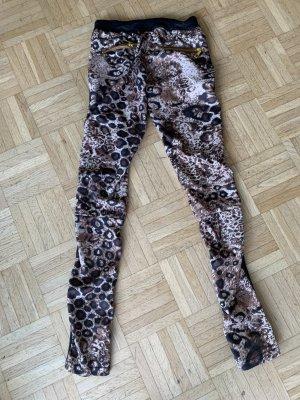 Stretch Hose/Skinny - LederLook/Leo - Black - Größe XS 32/34
