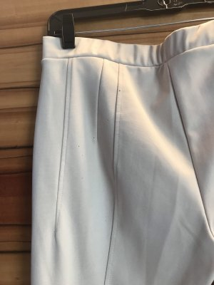 Twin set Spodnie ze stretchu jasnoszary-biały
