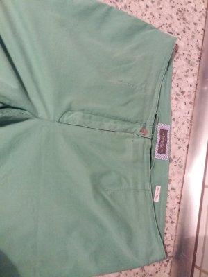 Pantalon taille basse vert clair-vert pâle coton