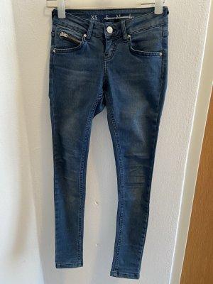 Never Denim Jeans stretch bleu acier