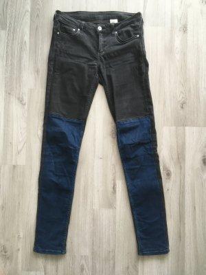 Stretch Jeans Blau- Schwarz/ Grau
