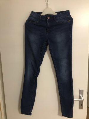 Noisy May Tube jeans donkerblauw
