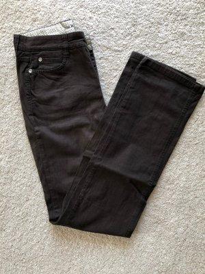 Stretch Jeans dunkelbraun