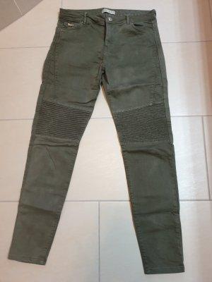 Stretch Jeans Grün
