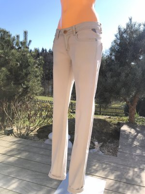 Stretch-Jeans in Hellbeige * Five-Pocket-Style