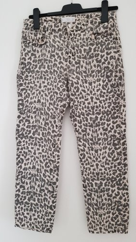 Stretch-Jeans mit Leoprint, schwarz-natur, Gr. 40