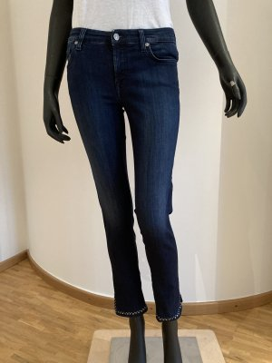 7 For All Mankind Stretch jeans blauw-donkerblauw