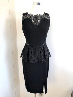 Lipsy Vestido peplum negro