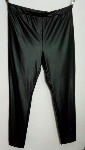 Stretch Leder Wet Leggings Größe XL C&A Schwarz